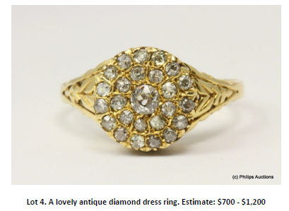 antique diamond dress ring