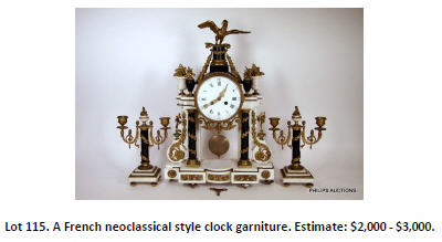 french style clock garniture