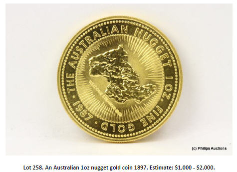 nugget gold coin
