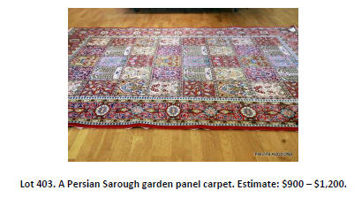 persian garden panel carpet
