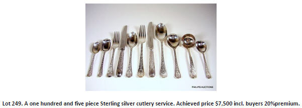 sterling silver cutlery service