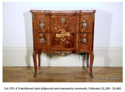tulipwood commode