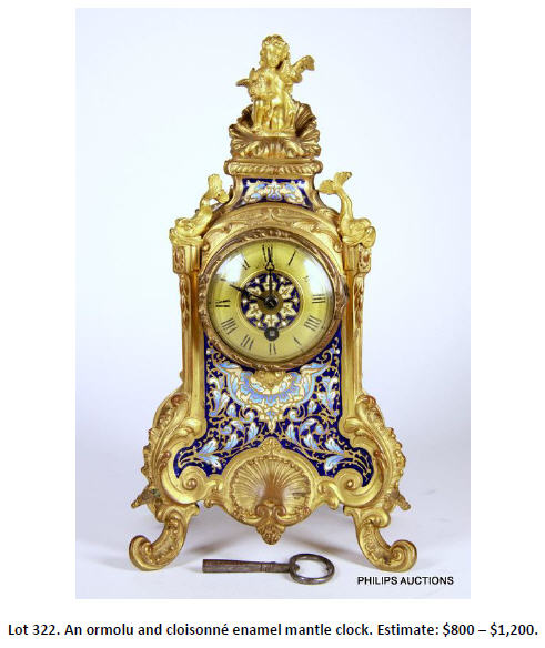 enamel mantle clock