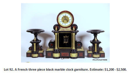 french clock garniture