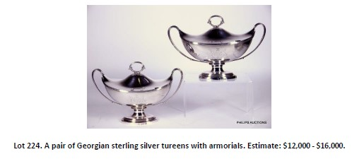 sterling silver tureens