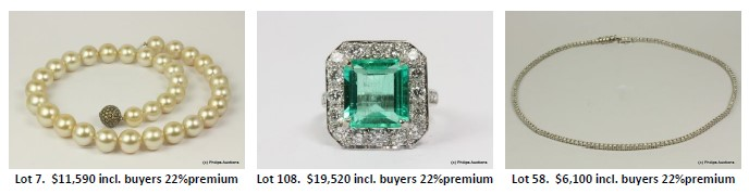 vintage jewellery auction pieces