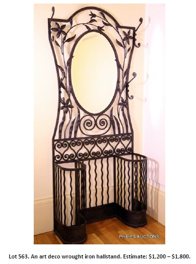 wrought iron hallstand